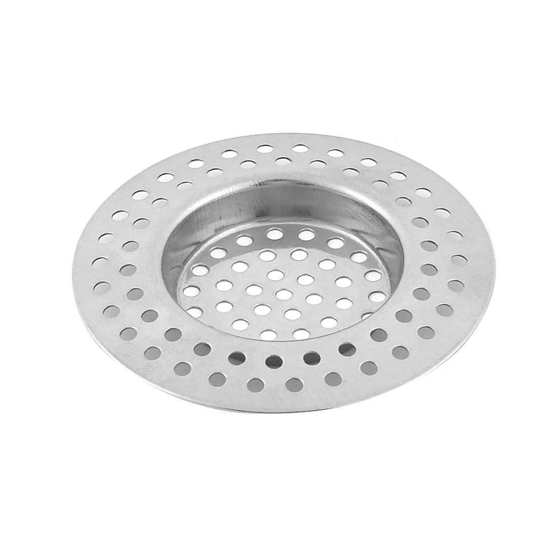 home kitchen bathroom metal sink drain strainer mesh filter basket sliver tone walmart com
