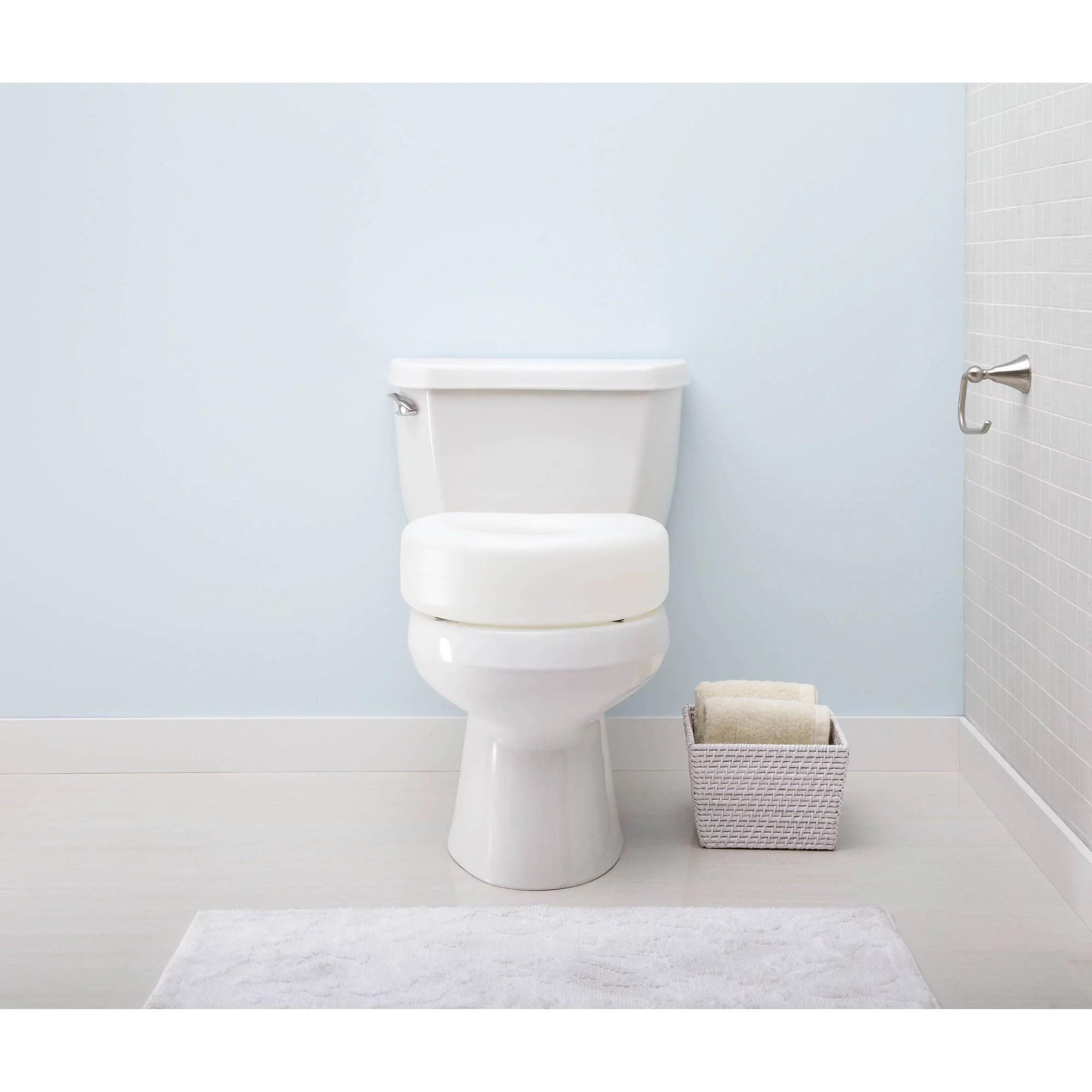 Medline Raised Toilet Seat Contoured Plastic Walmart Com Walmart Com