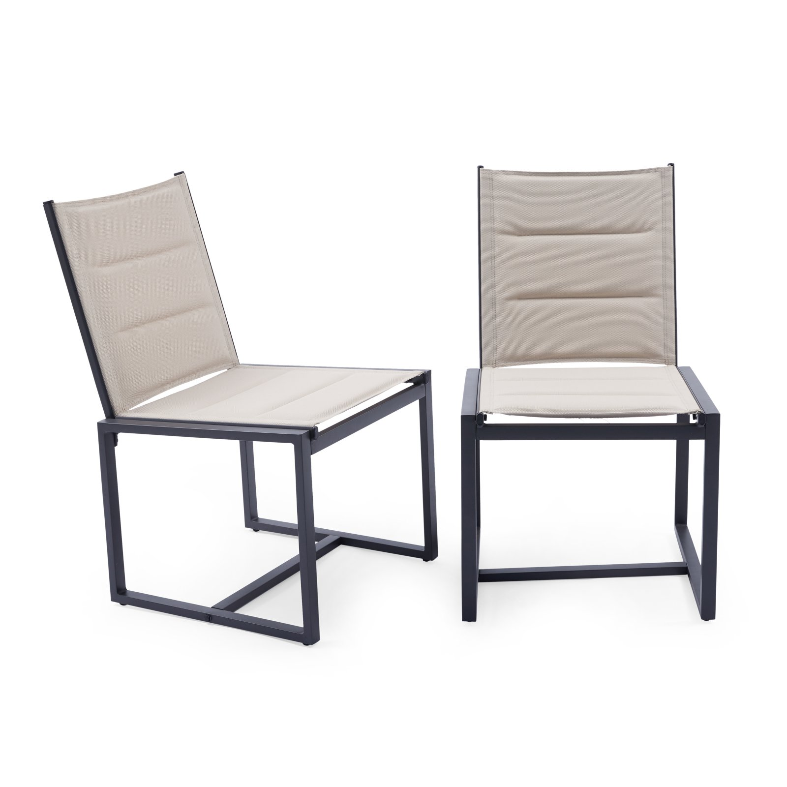 coral coast carano padded sling outdoor side armless dining chair set of 2