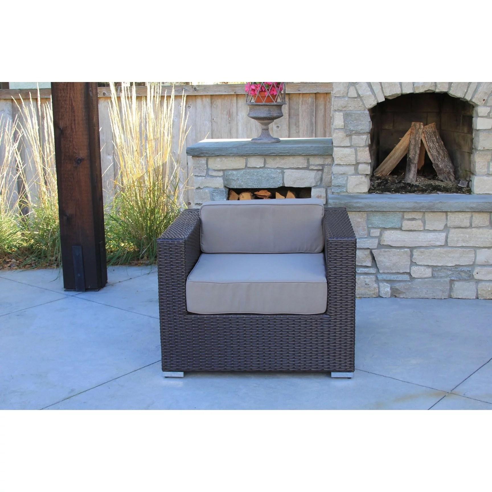 irving 9 pc modern outdoor rattan patio furniture sofa set modular