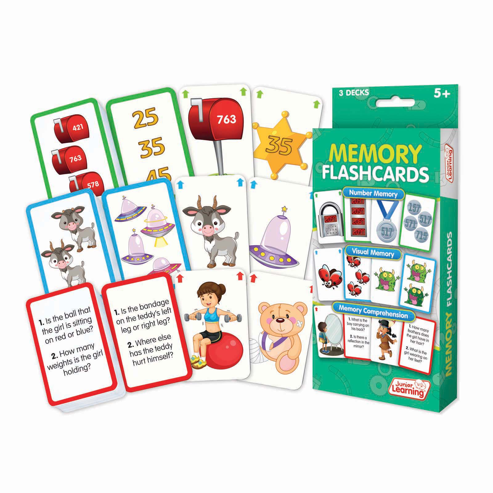 Junior Learning Memory Flashcards Educational Set Number