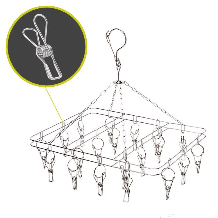 folding drying rack stainless steel hanging folding clothes drying rack rectangle shape 0 08 thickness save space to hang dry laundry or organize