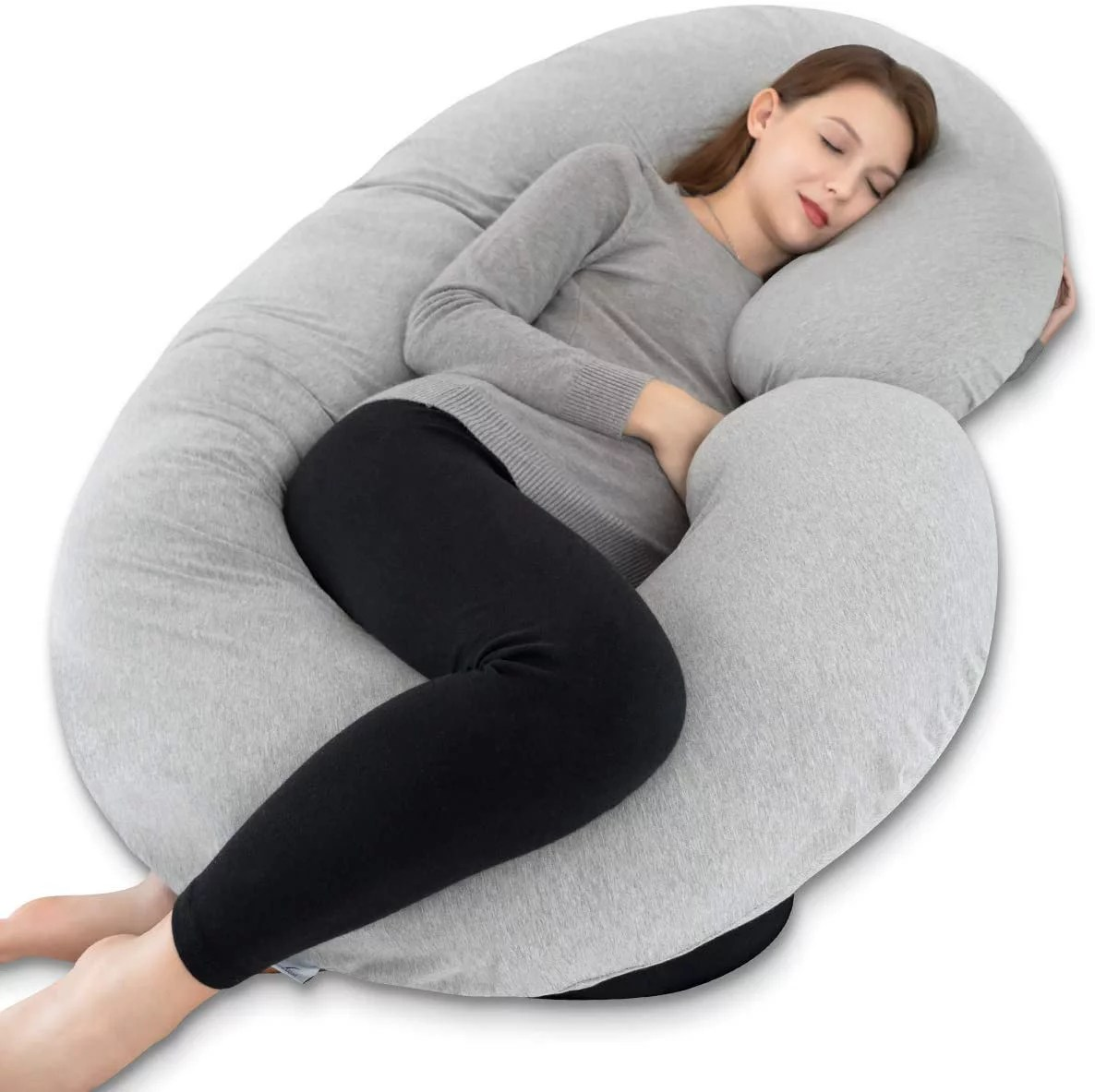 insen pregnancy pillow maternity body pillow for pregnant women c shaped pillow with jersey body pillow cover walmart com