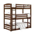Dorel Home Dorel Living Sierra Triple Bunk Bed Mocha Brickseek