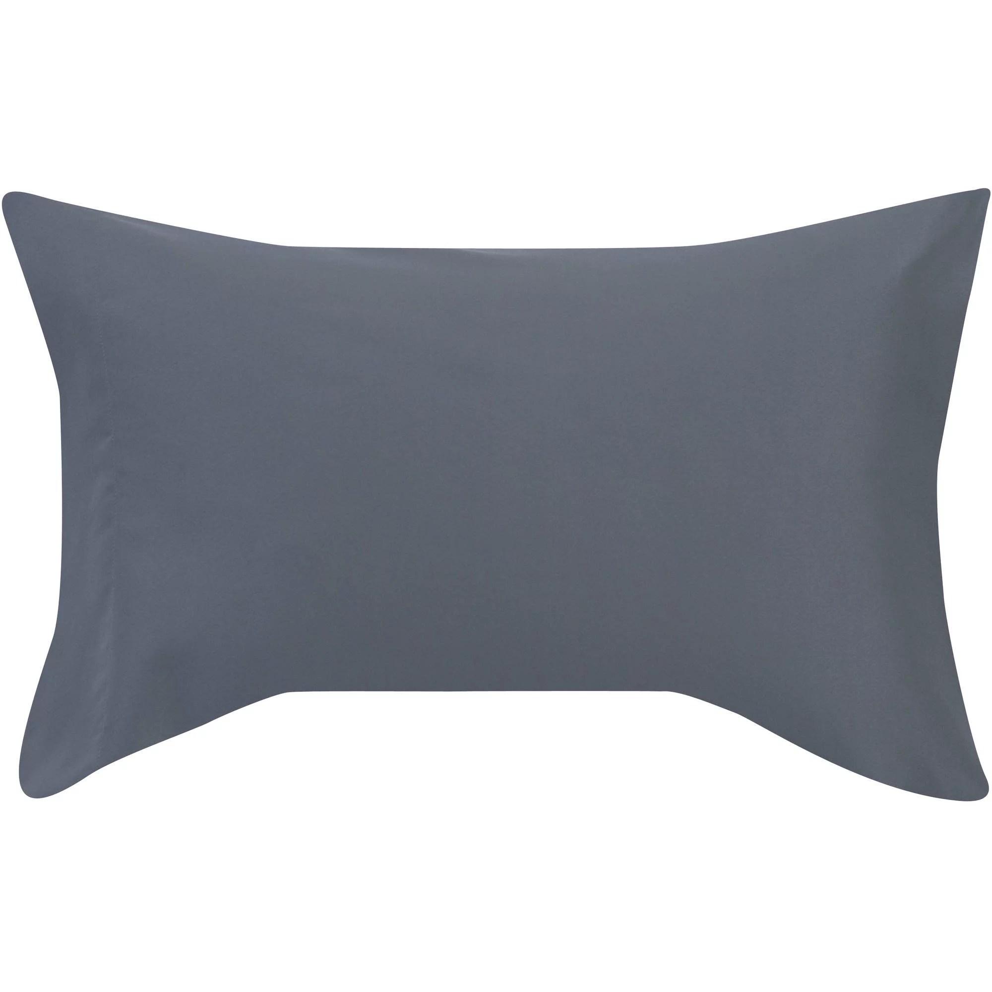 mainstays soft wrinkle resistant microfiber standard queen grey pillowcase set