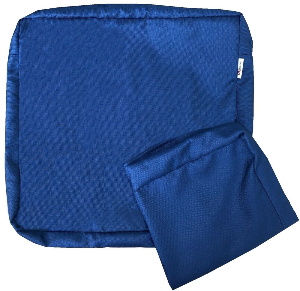 multi pack outdoor seat chair patio cushion pad cover duvet case 24 x22 x4 pacific navy blue color walmart com