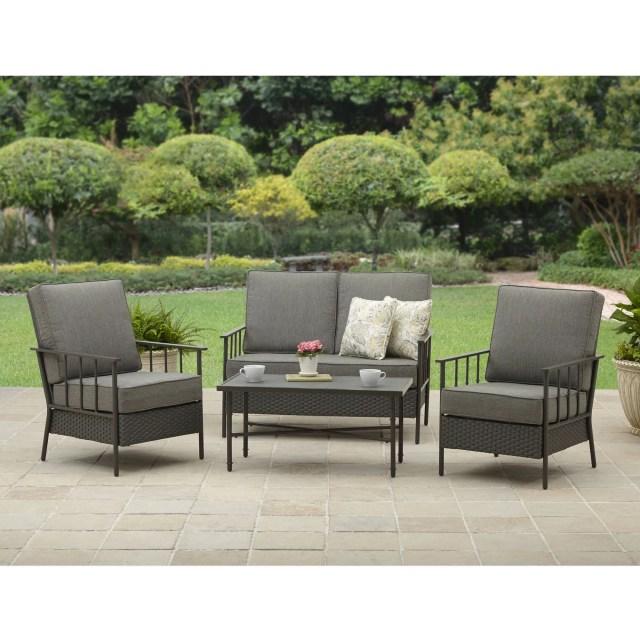 better homes and garden fairwater 4 piece outdoor conversation set