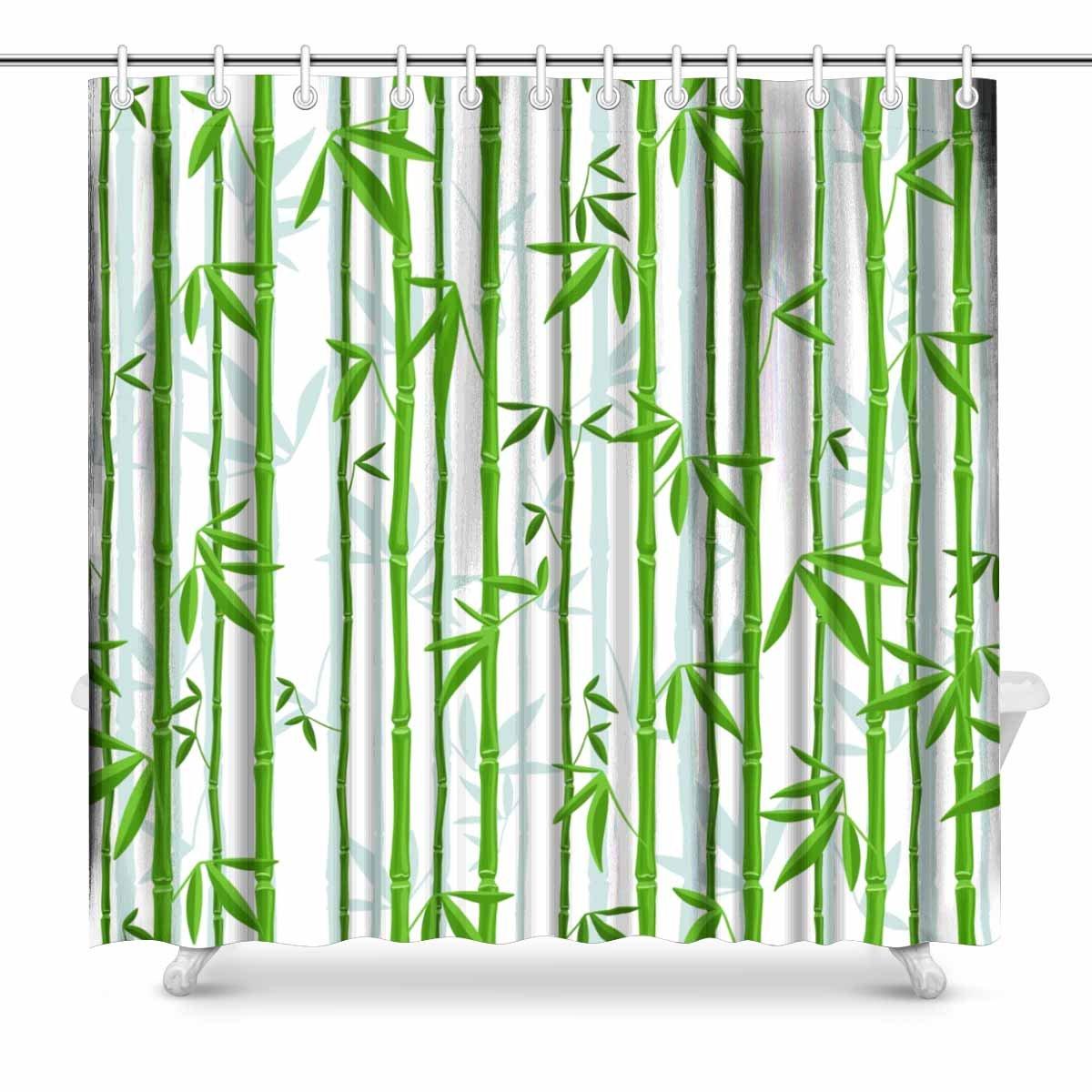 mkhert bamboo shower curtain home decor bathroom shower curtain 66x72 inch
