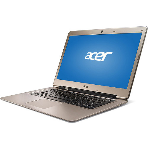 """Acer Champagne 13.3"""" Aspire Ultrabook S3-391-6616 Laptop PC with Intel Core i3-2377M Processor and Windows 7 Home Premium with Windows 8 Pro Upgrade Option"""