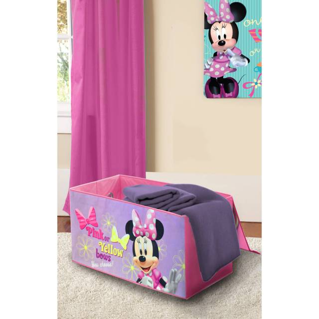 Disney Minnie Mouse Toddler Bed with BONUS Collapsible Toy Box