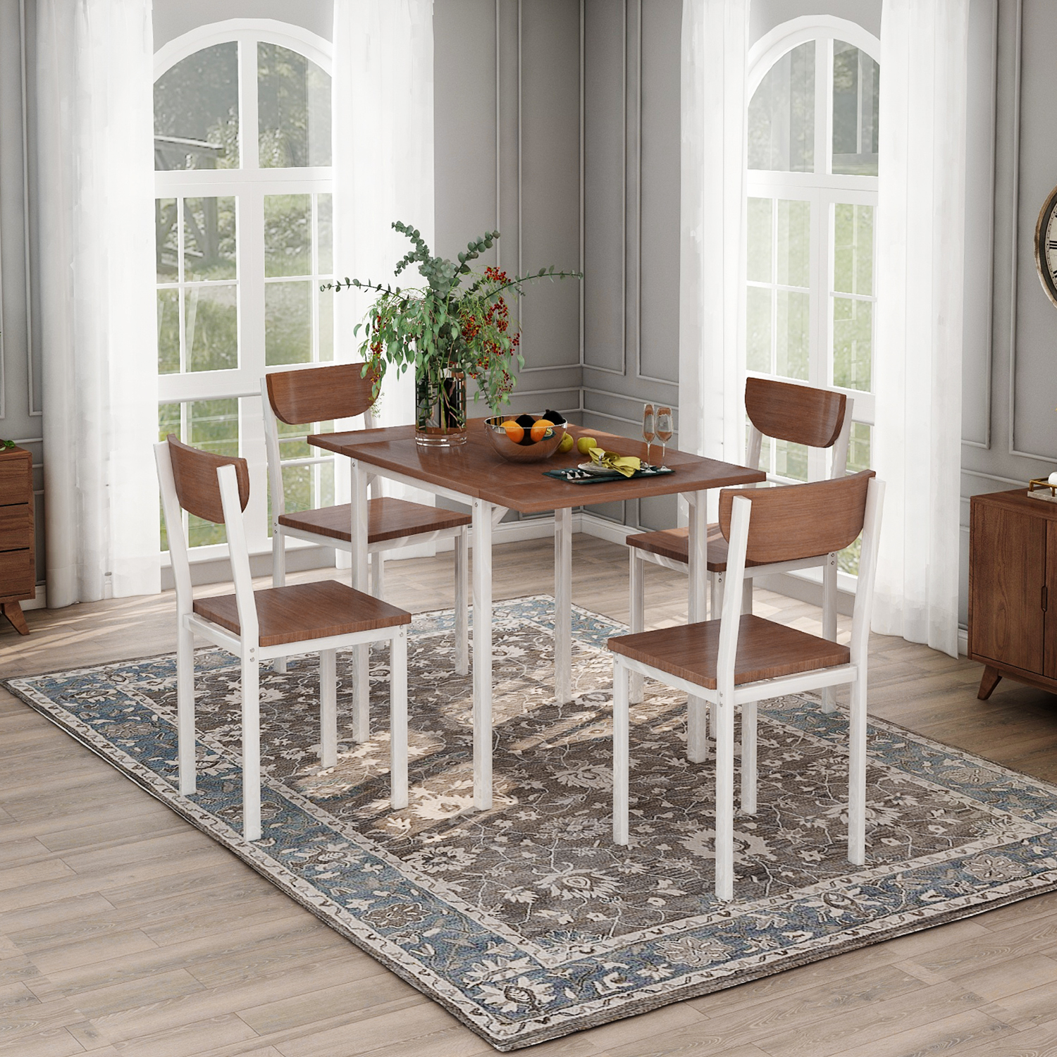 clearance kitchen table and 4 chairs set modern metal on dining room sets on clearance id=45142