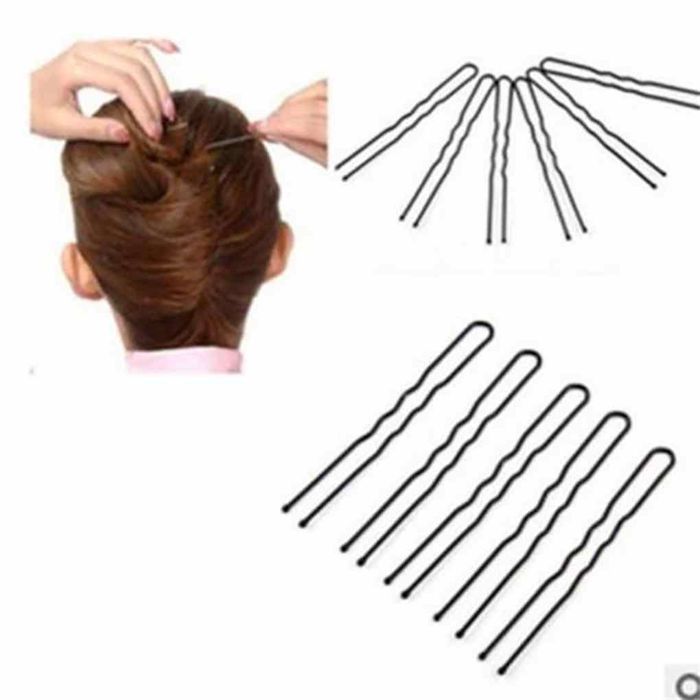 30 Pcs Black U Type Hair Clips Metal Hairpins Barrette Diy Stick Hairdressing Tools Accessories Walmart Canada