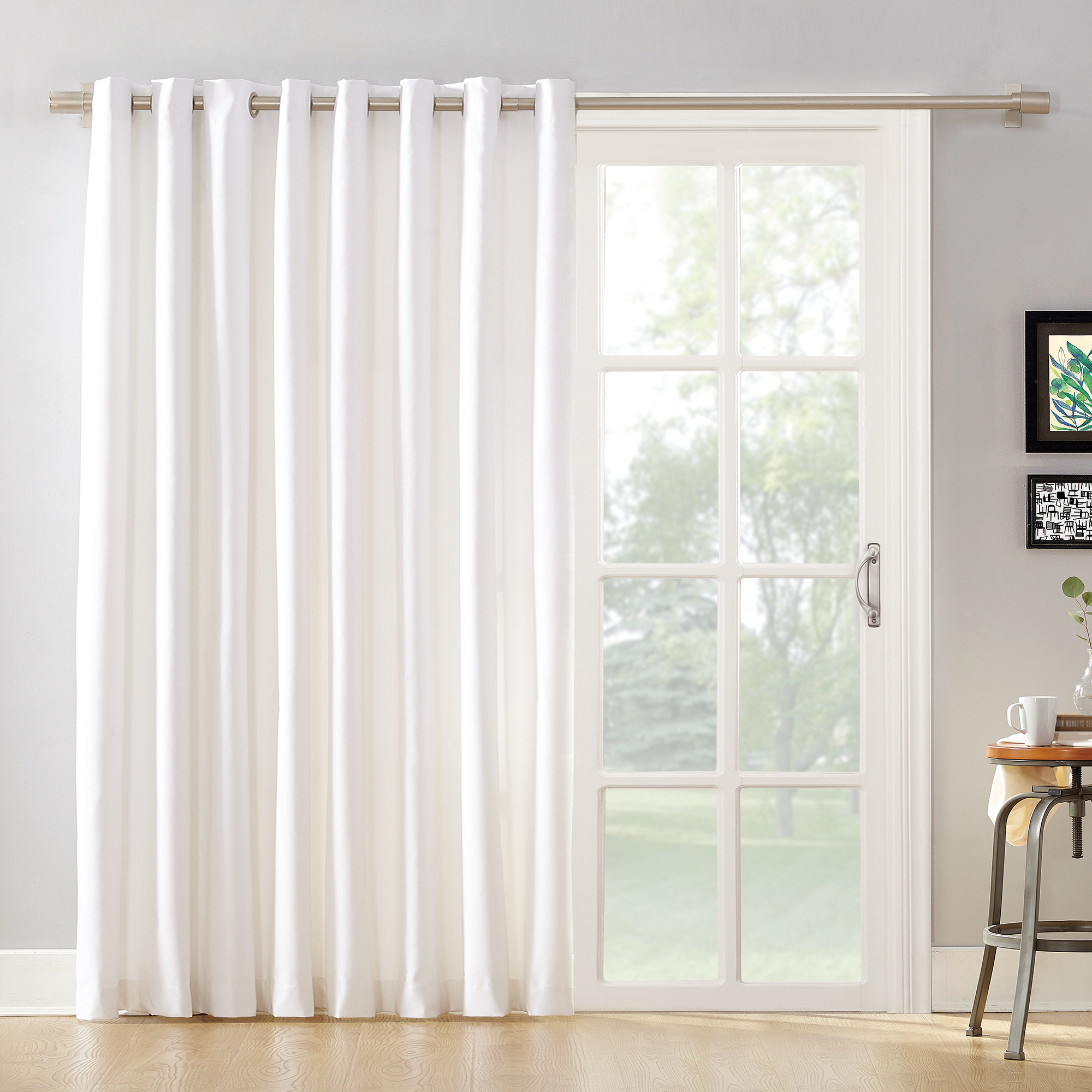 mainstays sliding glass door thermal lined room darkening grommet curtain panel