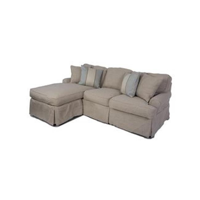 sunset trading horizon sleeper sofa and chaise slip cover set only linen