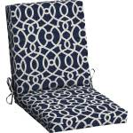 Mainstays Outdoor Patio Dining Chair Cushion Grey Trellis Walmart Com Walmart Com