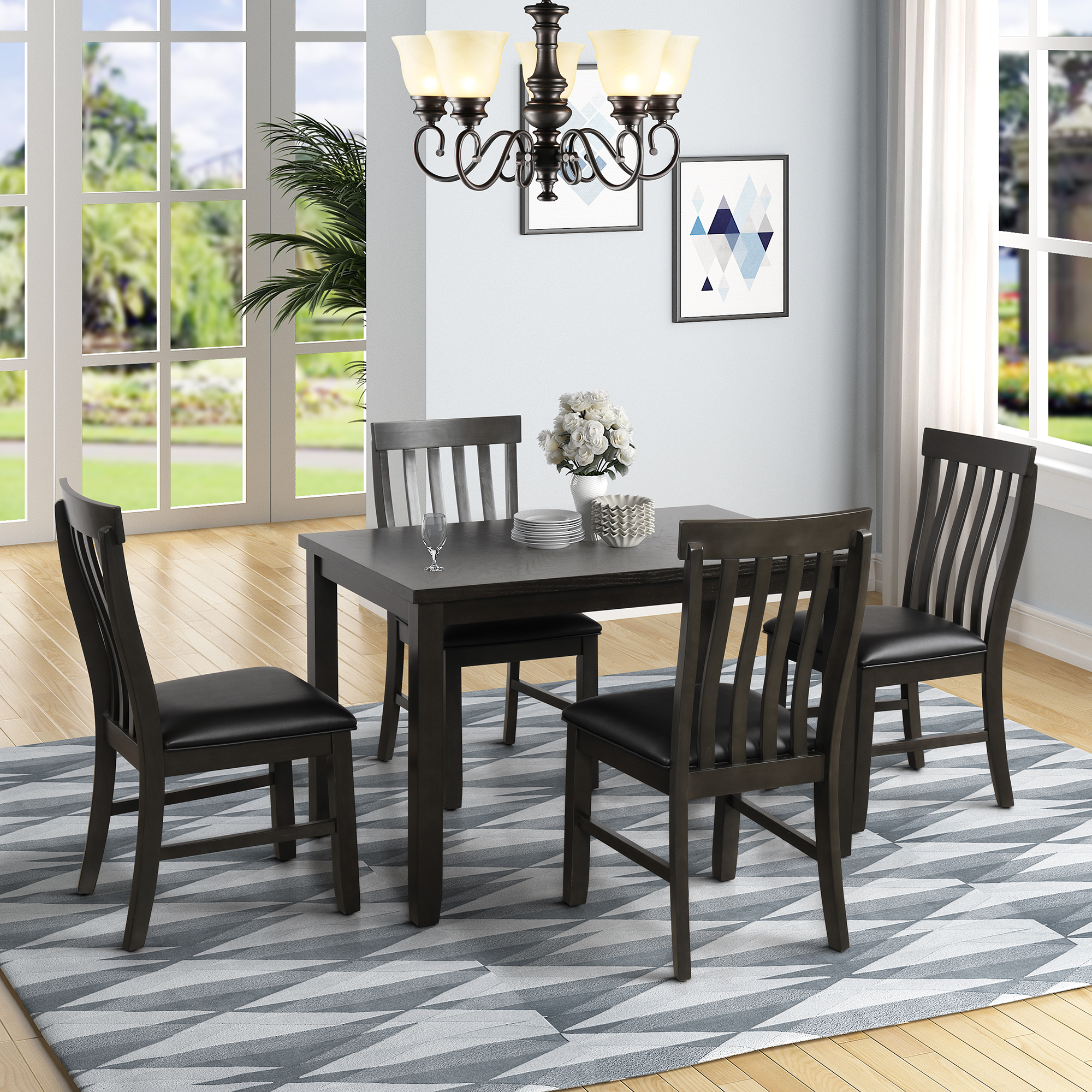 clearance kitchen dining table set 5 piece rectangular on dining room sets on clearance id=28325