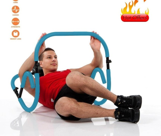 Ab Fitness Crunch Max 220lbs Ab Trainer Abdominal Machine Workout Exerciser Personal Home Gym Equipment Blue