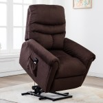 Electric Recliner Chair Heavy Duty Power Lift Recliners For Elderly Wide Seat 300 Lb Capacity Bedroom Chair With Side Pockets Remote Control Modern Reclining Office Chair Chocolate Q7502 Walmart Com Walmart Com
