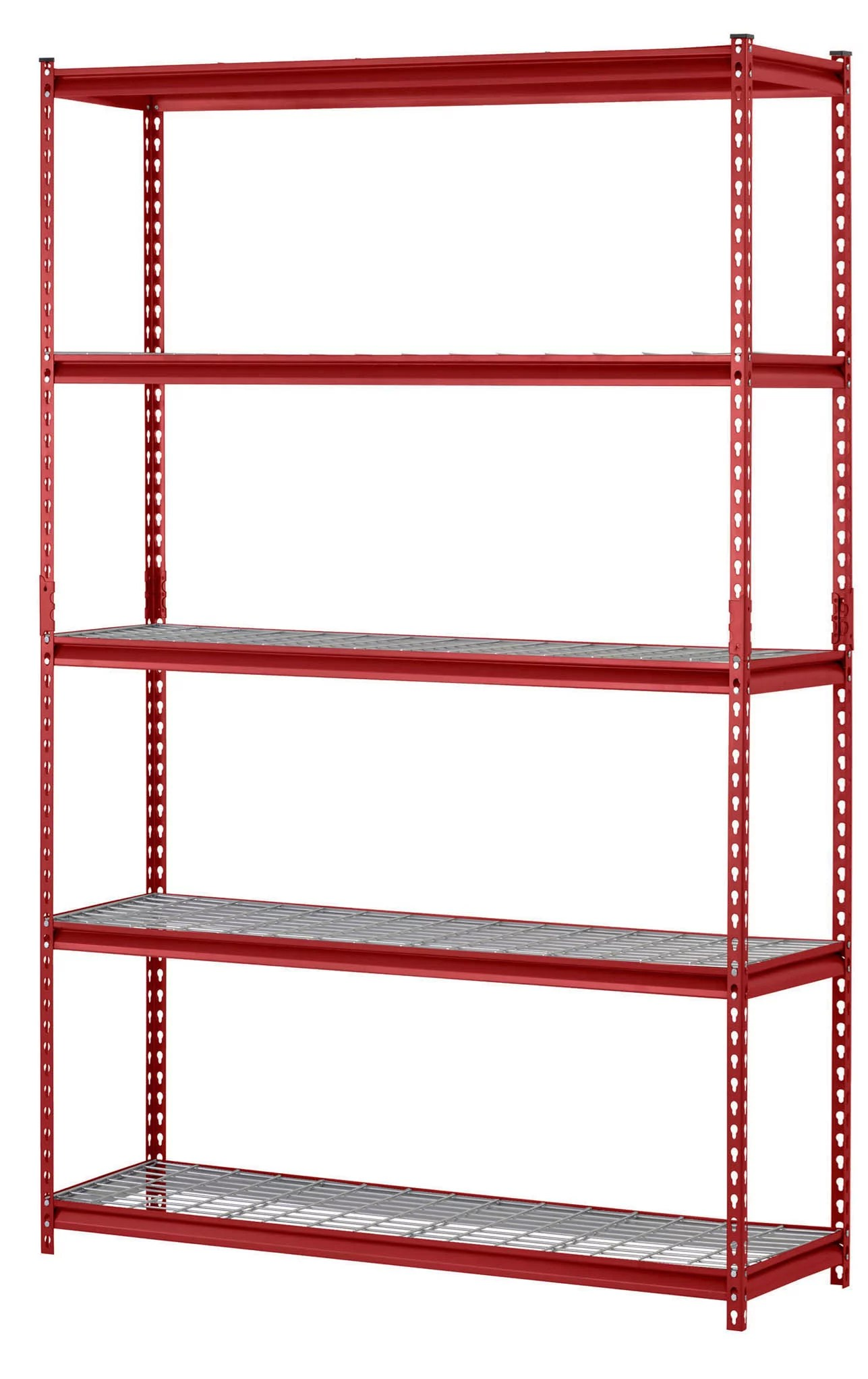muscle rack red 48 w x 24 d x 72 h 5 shelves steel wire shelving unit