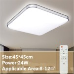 Led Modern Flush Mount Ceiling Light Bedroom Lamp Home Fixture With Remote 24w Walmart Canada