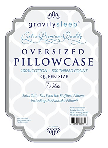 gravity sleep oversize pillow case queen size extra large fits even the fluffiest pillows including the pancake pillow sleeve style extra tall