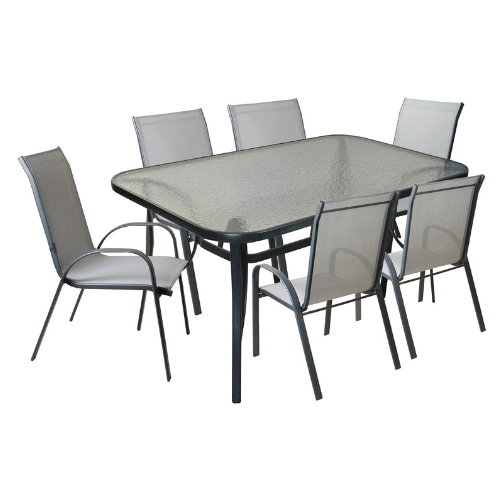 CC Outdoor Living 7 Piece Outdoor Textilene Mesh and Steel ... on Cc Outdoor Living id=86125