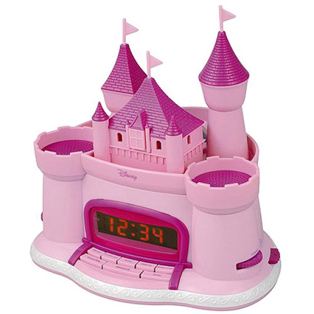 Alarm Clock Radio Pink Castle