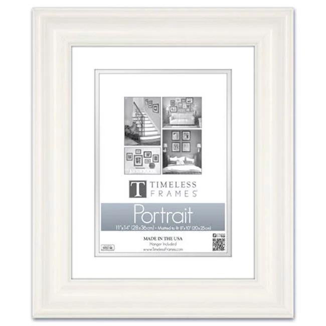 timeless frames 45350 lauren portrait pure white wall frame 16 x 20 in