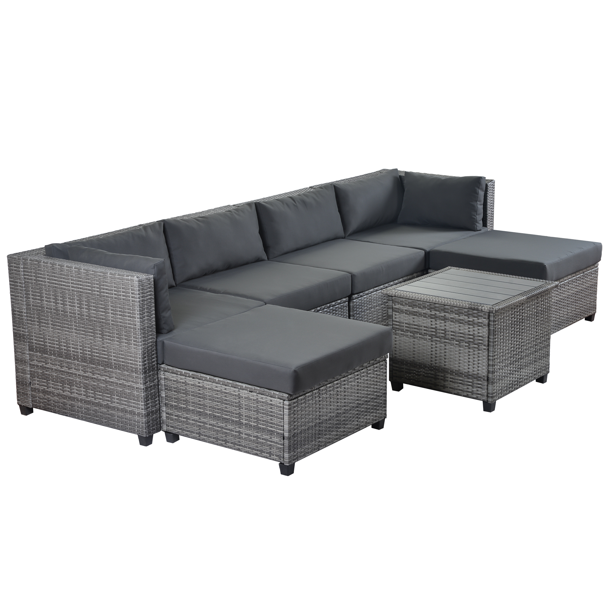 clearance patio sectional conversation sets 7 pieces on walmart bedroom furniture clearance id=75192