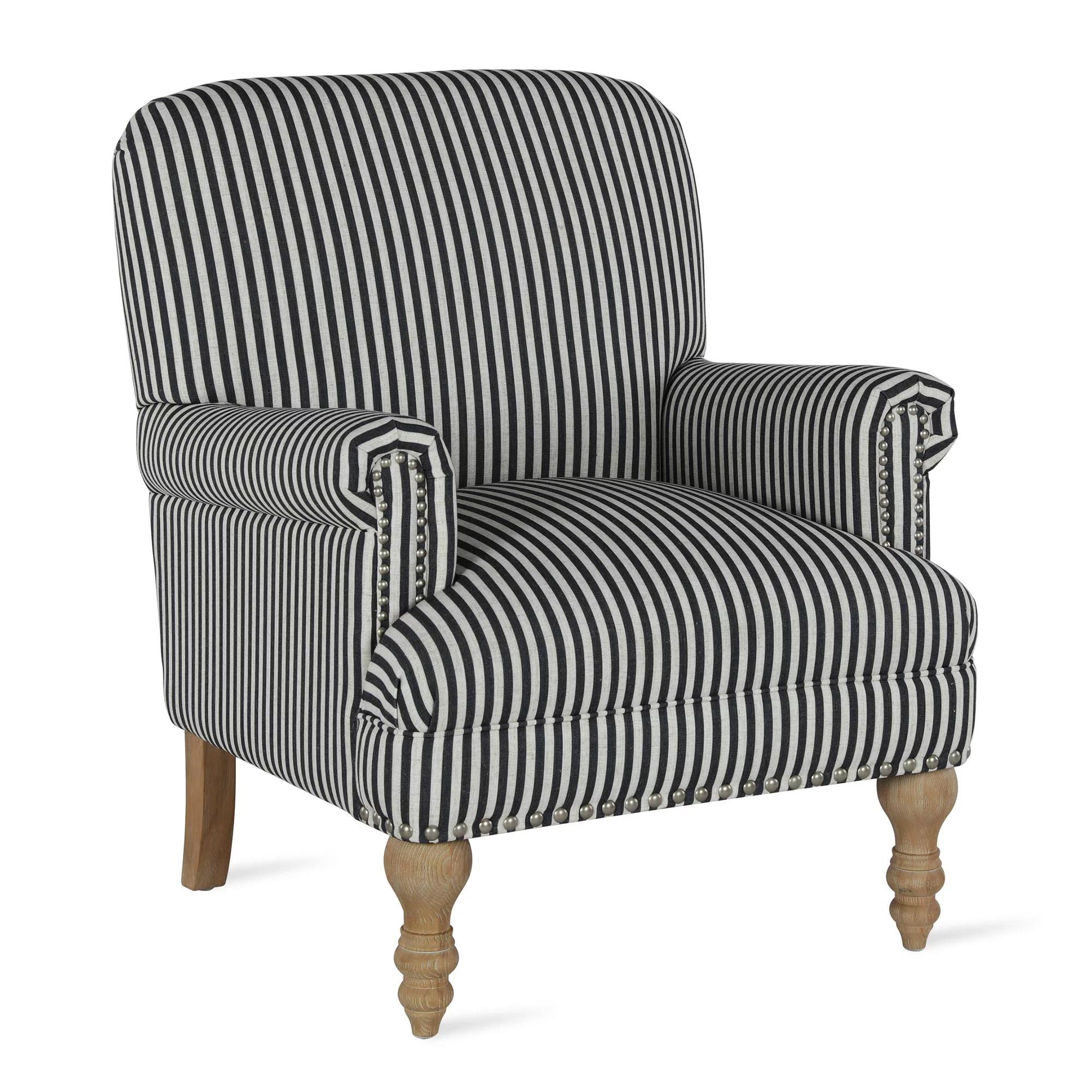 dorel living jaya accent chair living room armchairs black stripe
