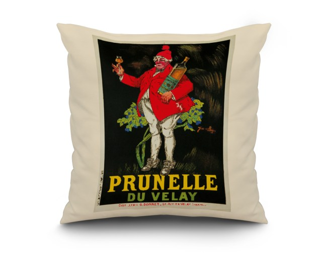 Prunelle Du Velay Vintage Poster Artist Jarville France C 1922 20x20 Spun Polyester Pillow Black Border Walmart Com