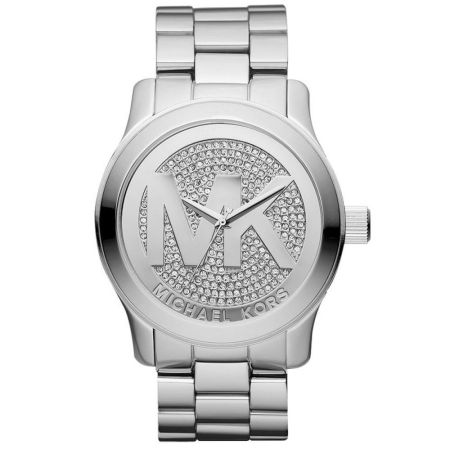 Michael Kors Women's Parker Silver Stainless-Steel Quartz Dress Watch MK5544