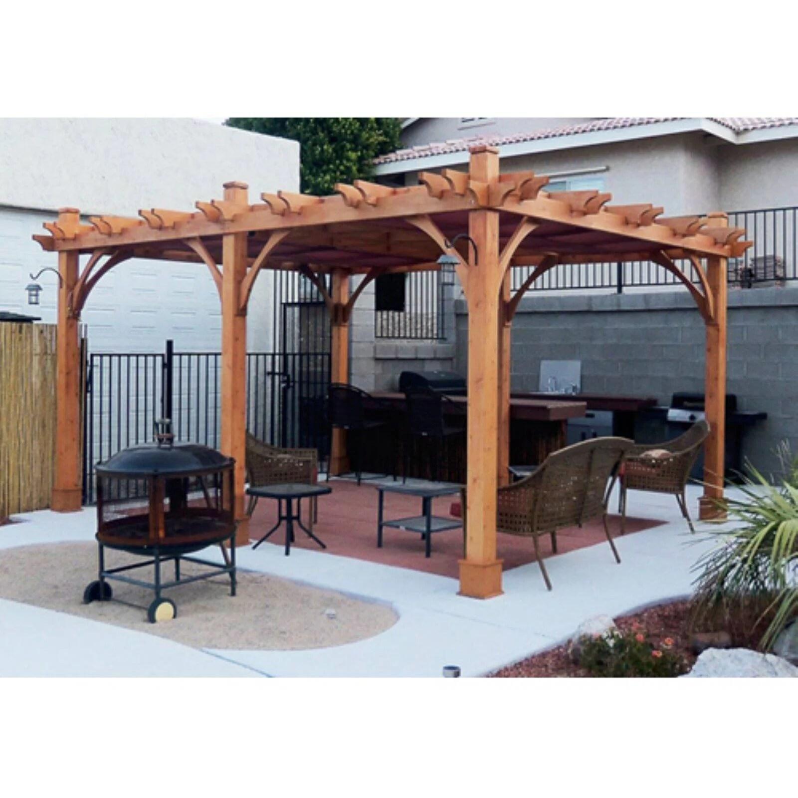 Outdoor Living Today Breeze 12 x 16 ft. Pergola - Walmart ... on Walmart Outdoor Living  id=61592