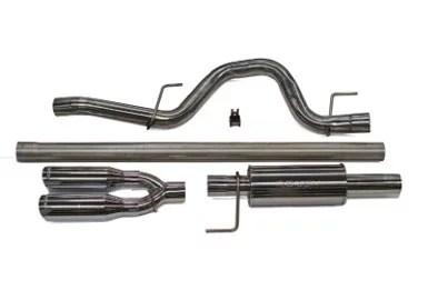 roush performance kovington 421248 exhaust system kit exhaust system kit cat back system 409 stainless steel with muffler 3 inch diameter single
