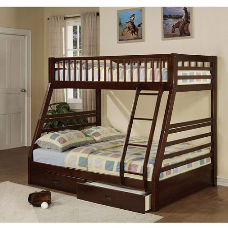 Jason Twin Over Full Wood Bunk Bed Espresso