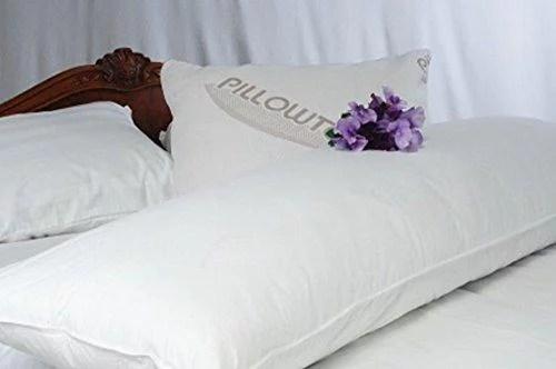 pillowtex white goose feather and down body pillow 20 x 60