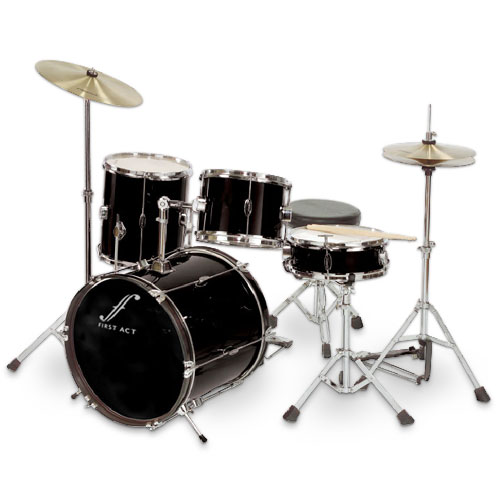 First Act 7 Piece Drum Set   Black   Walmart com First Act 7 Piece Drum Set   Black