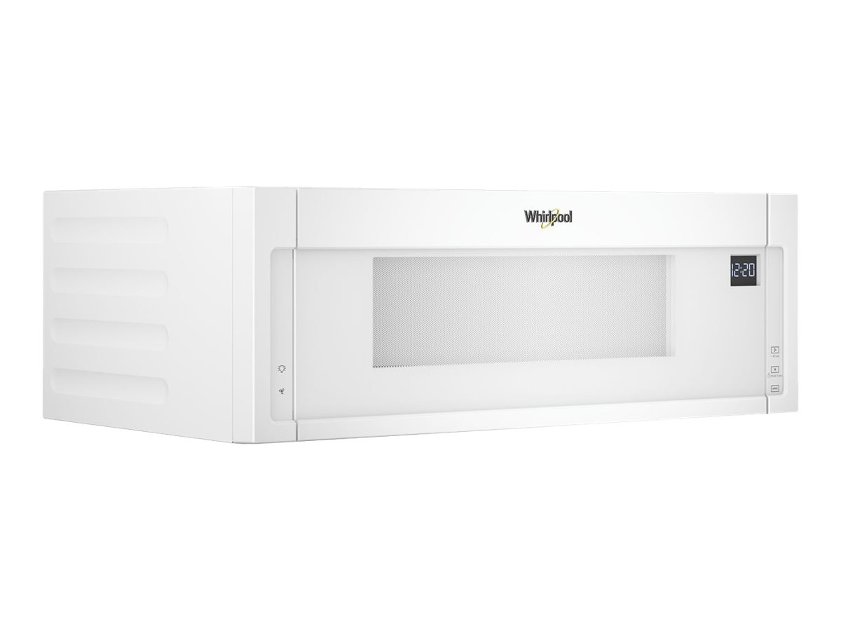whirlpool wml55011hw microwave oven over range 1 1 cu ft 1000 w white with built in exhaust system