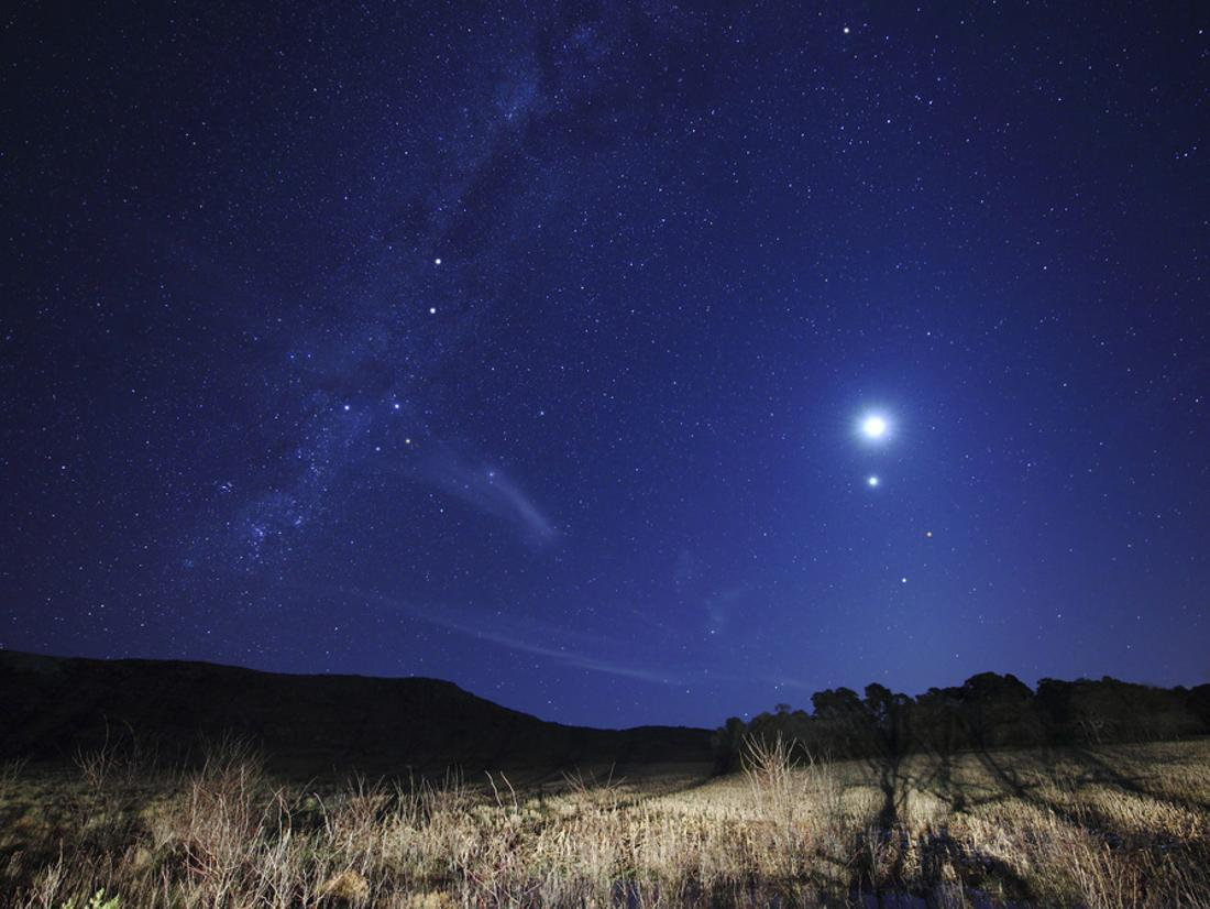 The Moon Venus Mars and Spica in a Quadruple Conjunction
