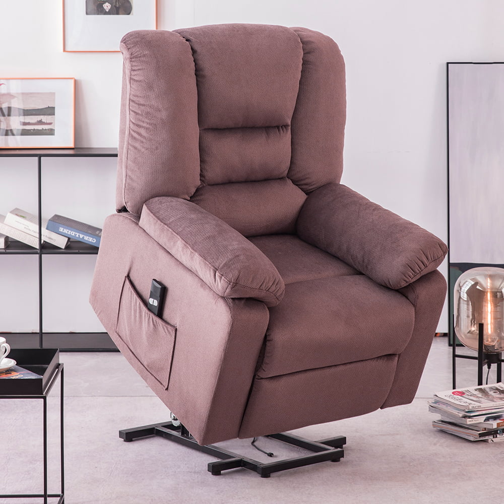 electric recliner chair heavy duty power lift recliners for elderly wide seat 300 lb capacity bedroom chair with side pockets remote control