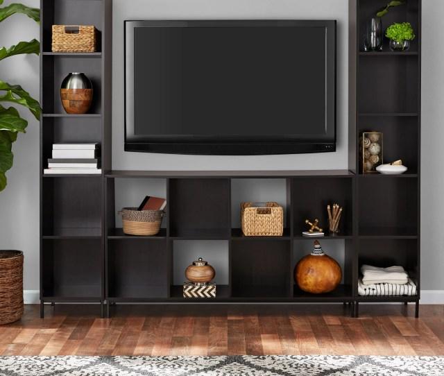 Mainstays Cube Storage Home Tv Entertainment Center Espresso