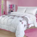 Full Queen Paris Comforter Bedding Set France Pink White Grey Eiffel Tower Walmart Com Walmart Com