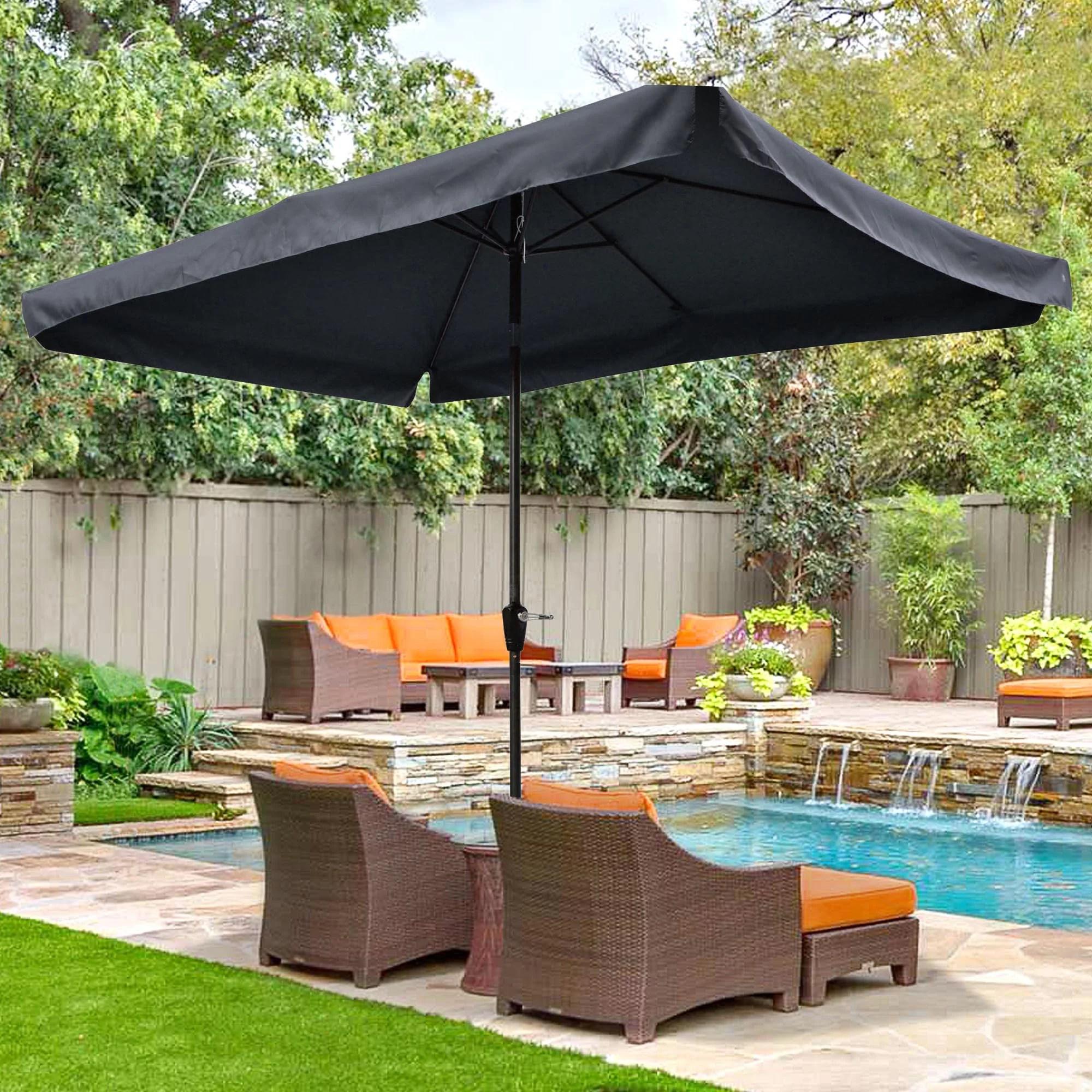 rectangular patio umbrellas gray