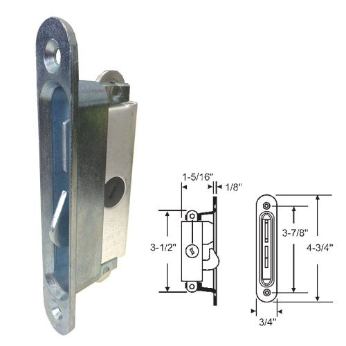 sliding glass patio door lock mortise type 3 7 8 screw holes by technologylk walmart com