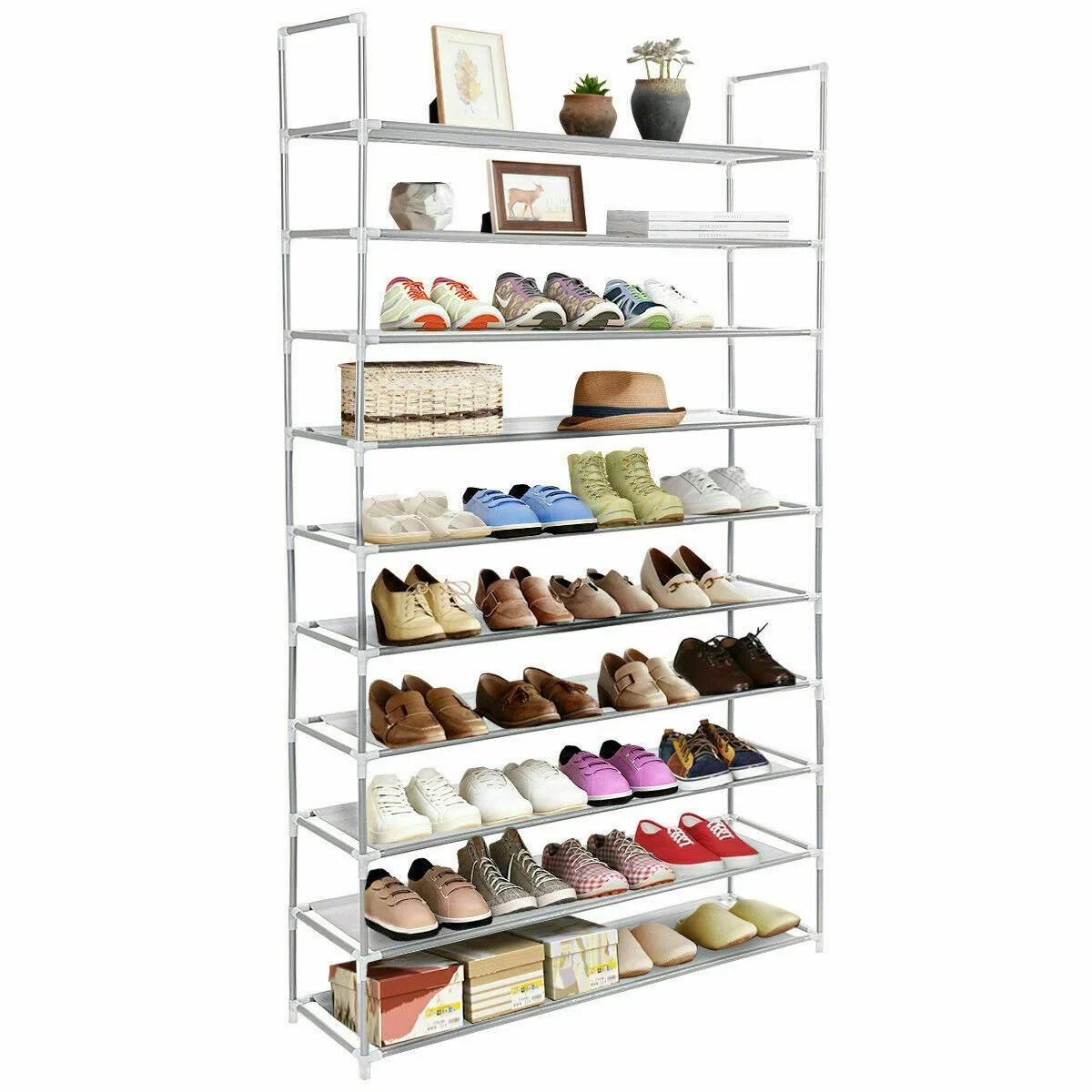10 tiers shoe rack 50 pair stackable shoe rack storage shelves