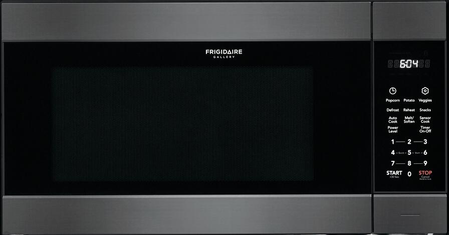 frigidaire fgmo226nud 25 gallery series built in microwave with 2 2 cu ft capacity sensor cooking one touch options and effortless reheat in black