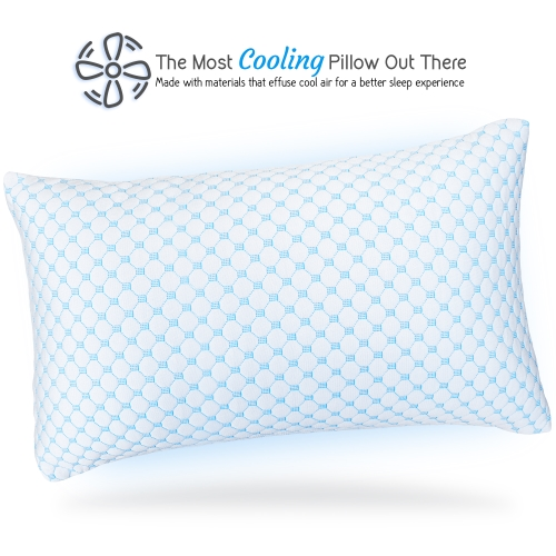 gel and memory foam infused reversible cooling pillow multi use cool to velvety soft bed pillow large body pregnancy 20 x 54