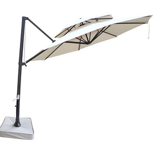garden winds replacement canopy top for souther patio two tiered umbrella walmart com