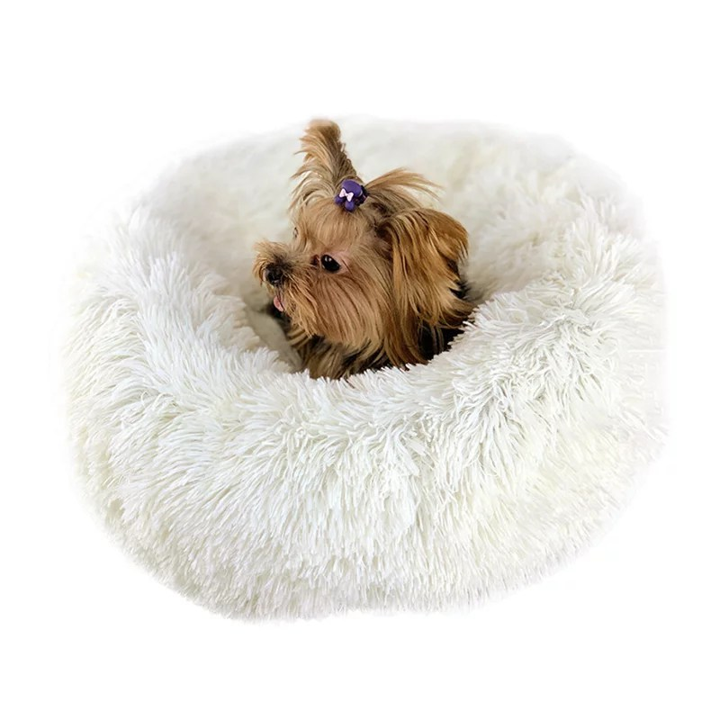 luxury fluffy soft pet bed for cats dogs assorted colors sizes dog bed self warming walmart com
