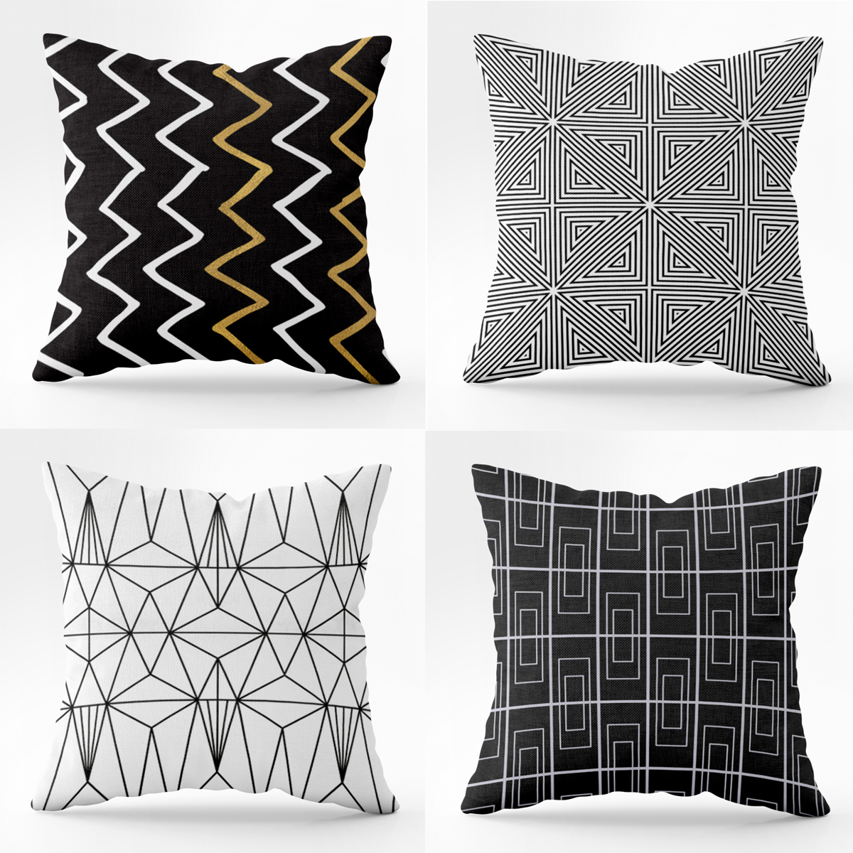 novashion boho pillow case black and white pattern pillowcase printed geometry euro pillow covers home decorative cushion cover walmart com